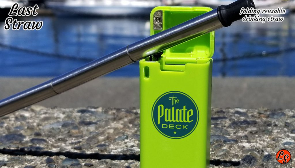 get your logo on a folding collapsible reusable drinking straw